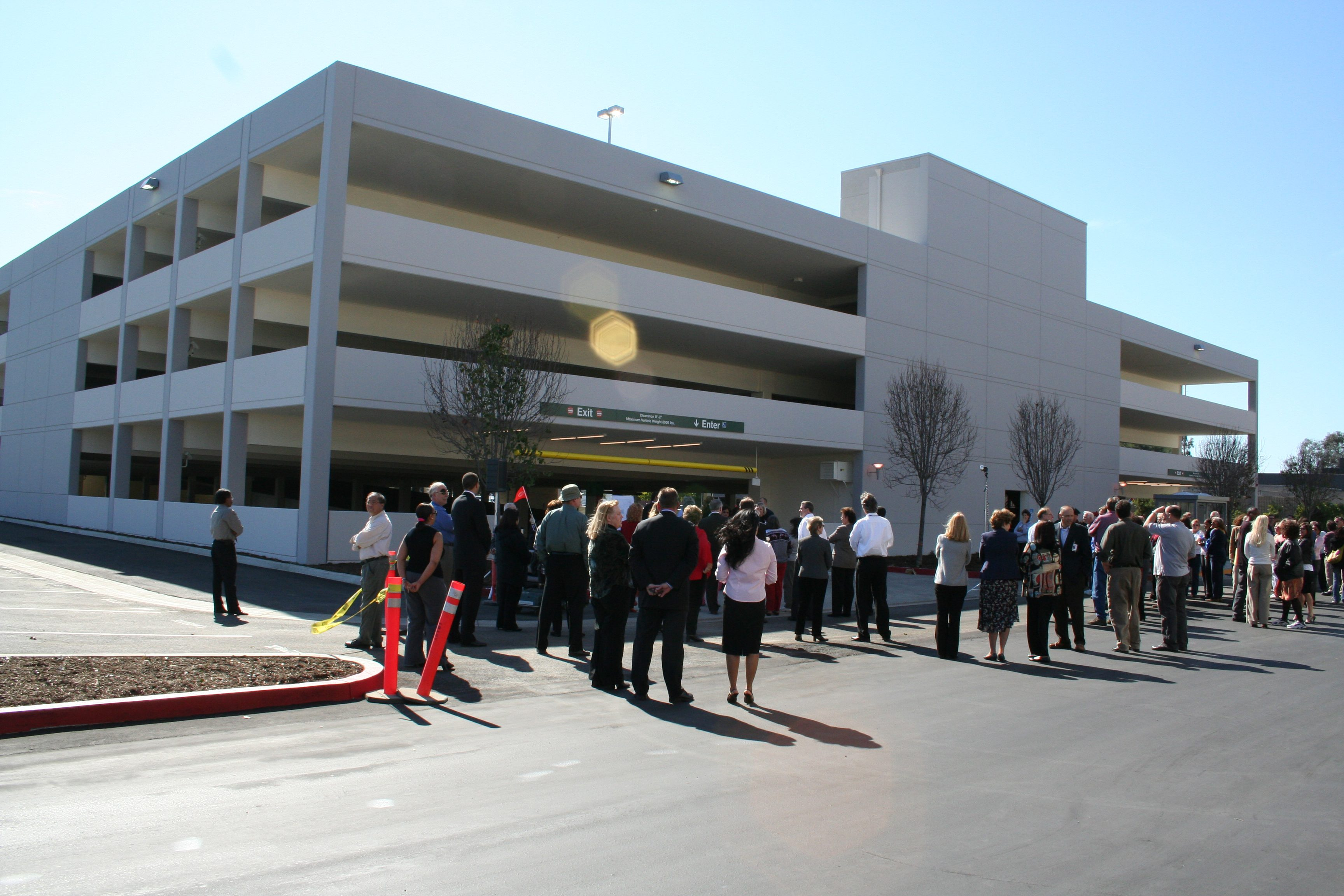 MATT construction Aerospace Parking Structure Ribbon cutting