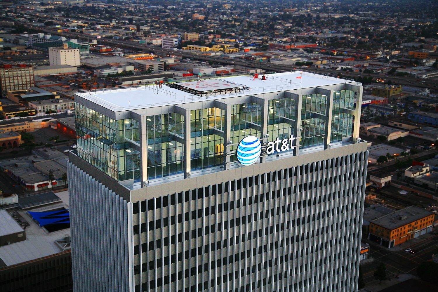 MATT construction AT&T Tower Penthouse Exterior Aerial View