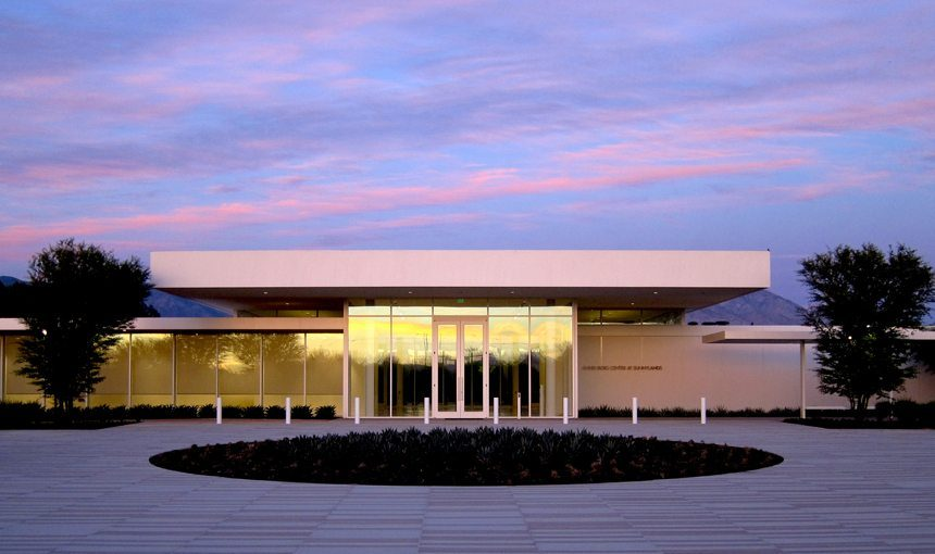 leed gold MATT construction Annenberg Retreat at Sunnylands Exterior Front Dusk