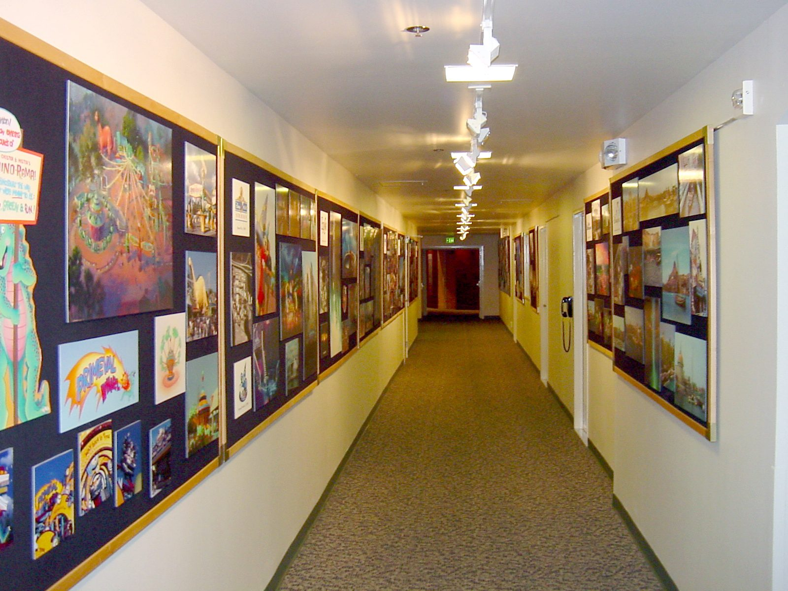 Disney Studios at 1401 S Flower Interior Hallway
