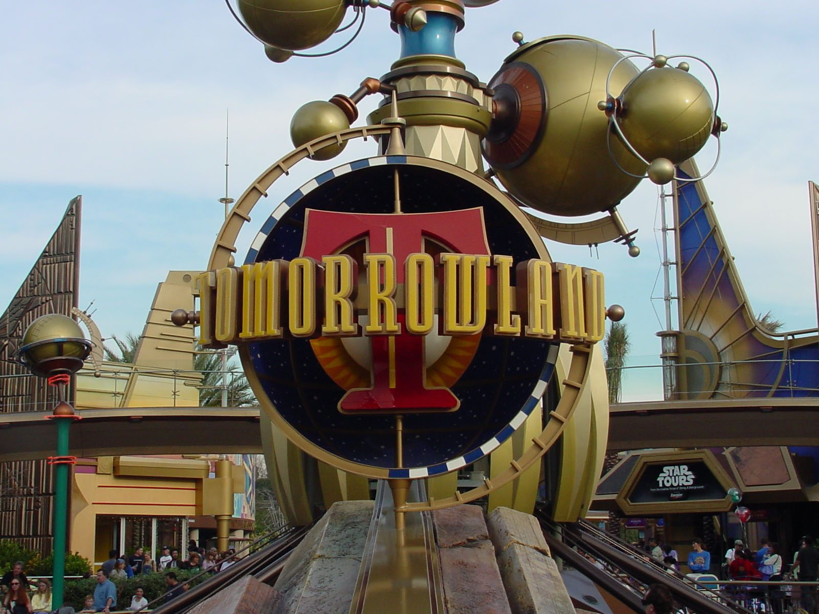 Disneyland's Tomorrowland Signage Upclose MATT Construction