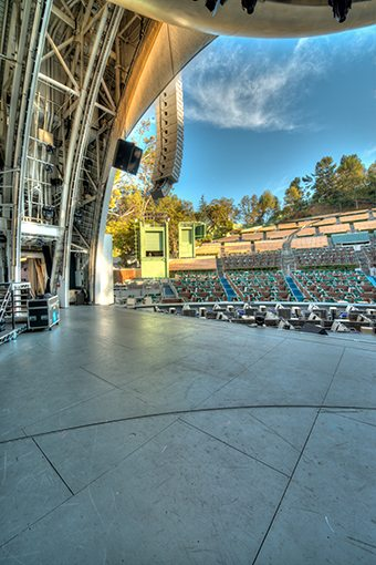 MATT construction Hollywood bowl view from stage