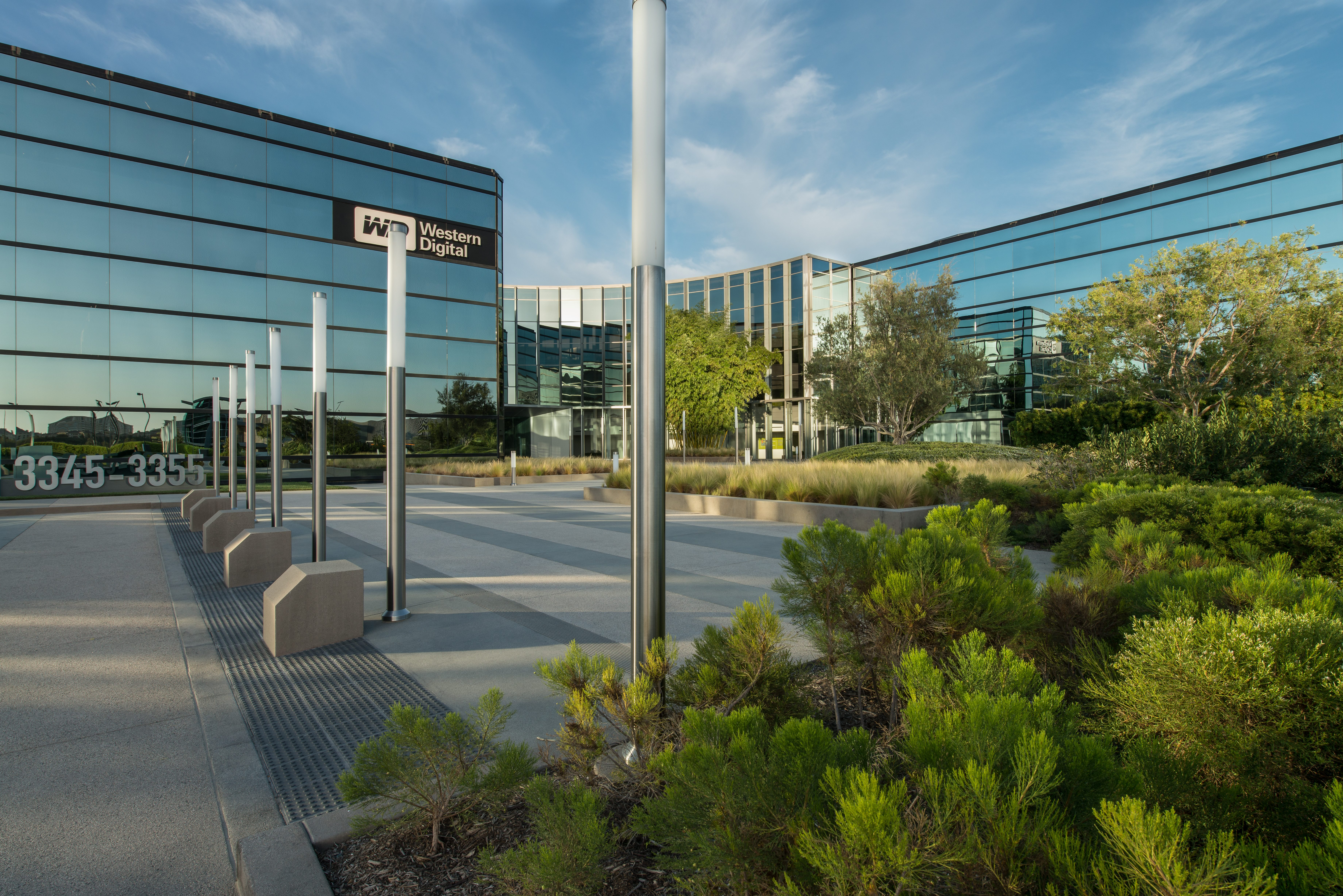 Park Place Irvine Office Building Exterior Plaza Landscaping Day