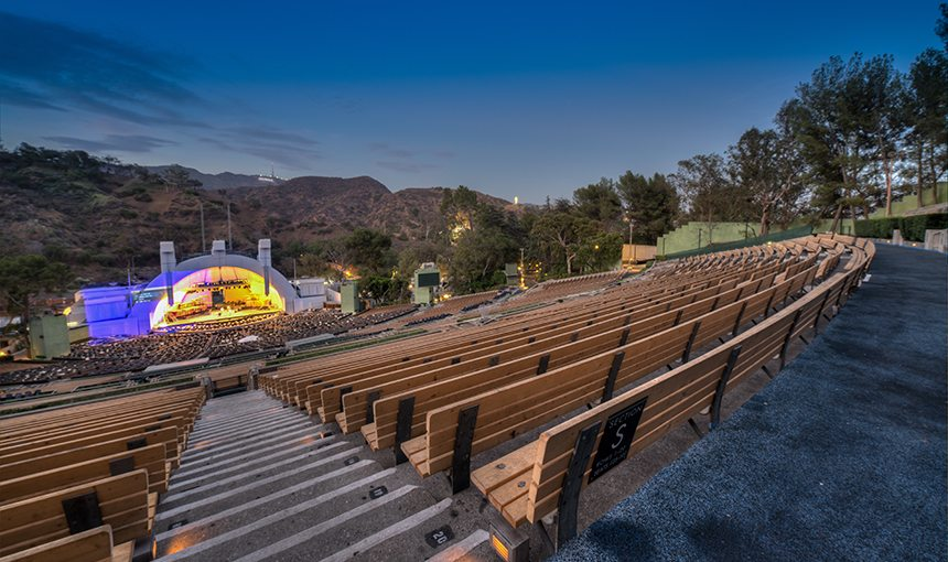 MATT construction Hollywood bowl stage shell benches