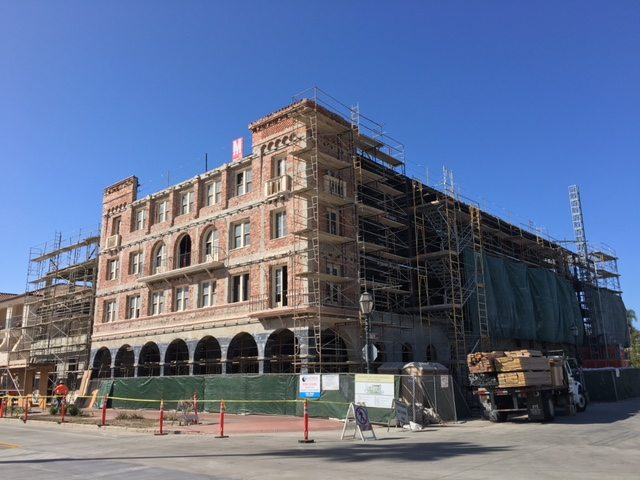 Entrada de Santa Barbara Hotel Californian Exterior Corner Construction Progress MATT Construction