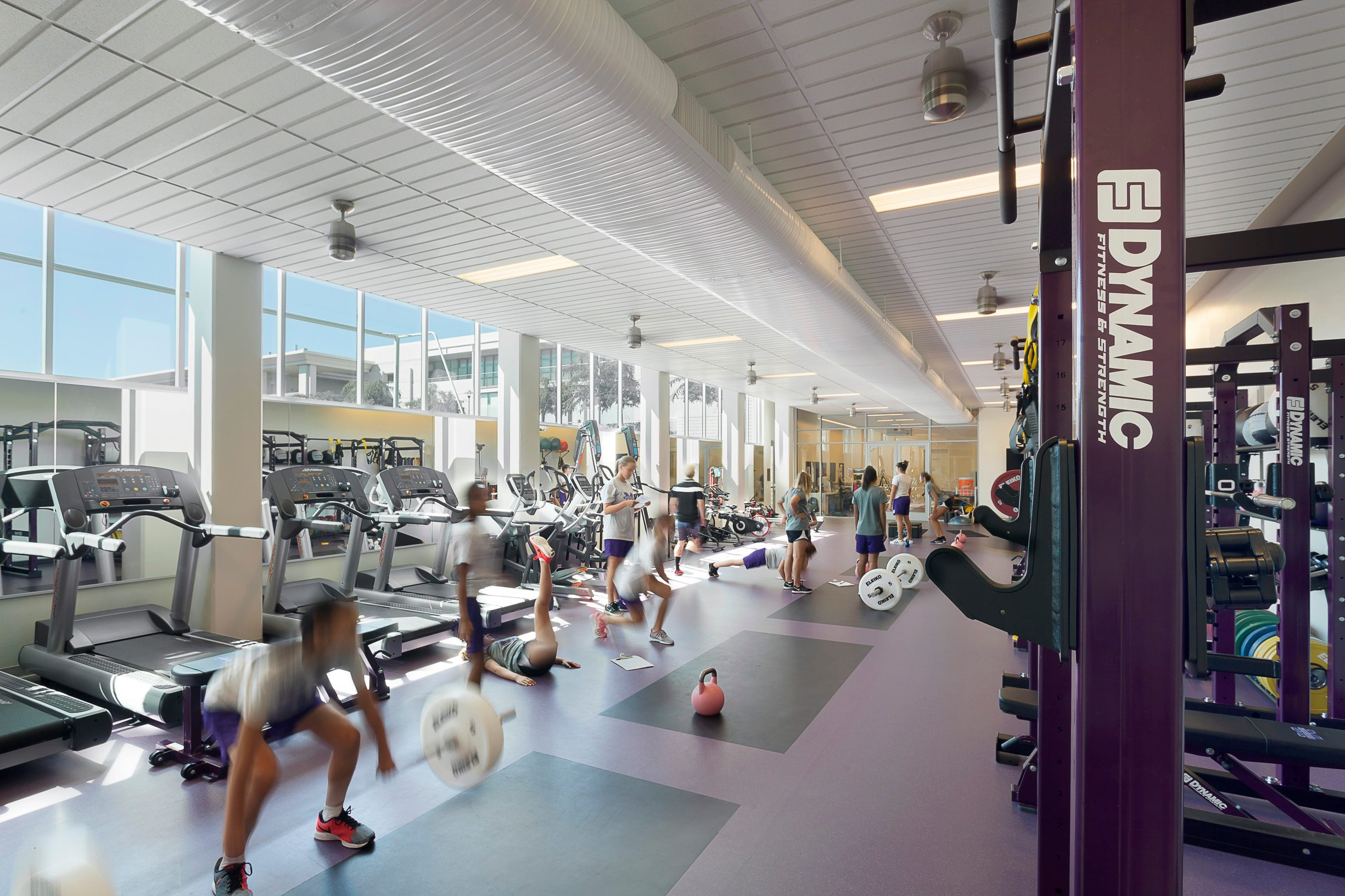 MATT construction Marlborough High School Arden Project Interior Fitness Center