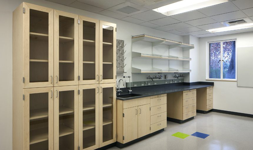 MATT construction Caltech Shapiro Lab Interior counter storage