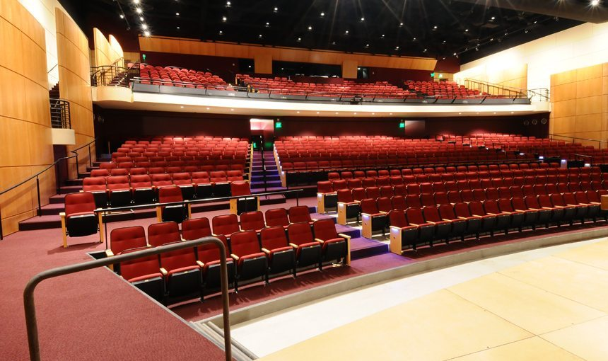 Harvard Westlake Middle School Theater Interior View stage