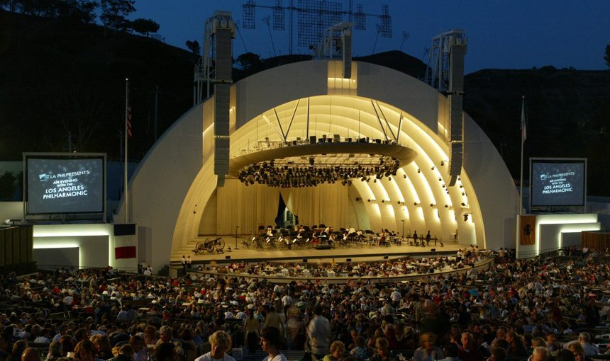 MATT construction Hollywood Bowl Stage Shell Night