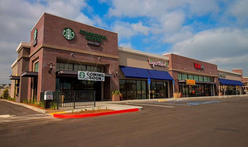MATT construction Juanita Tate Marketplace Exterior Signage Starbucks