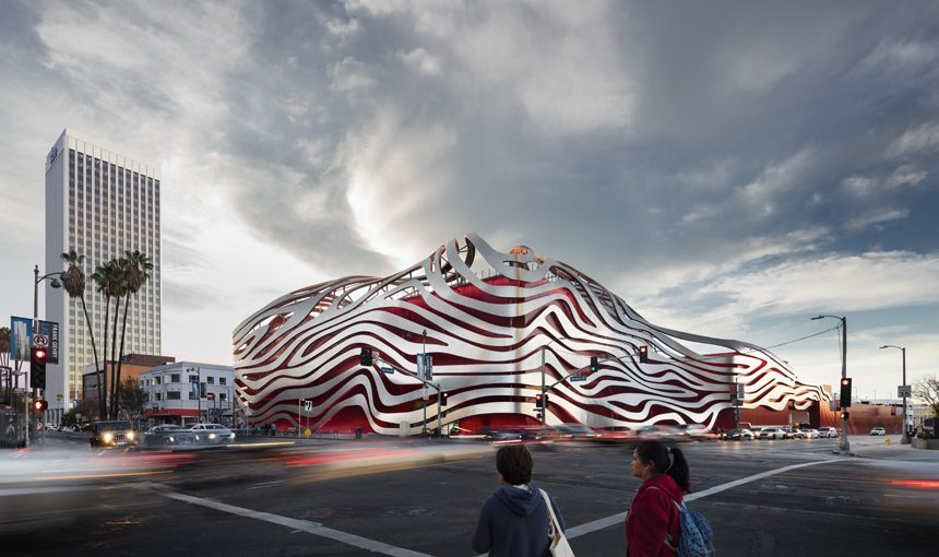 MATT construction Petersen Automotive Museum Exterior Corner View