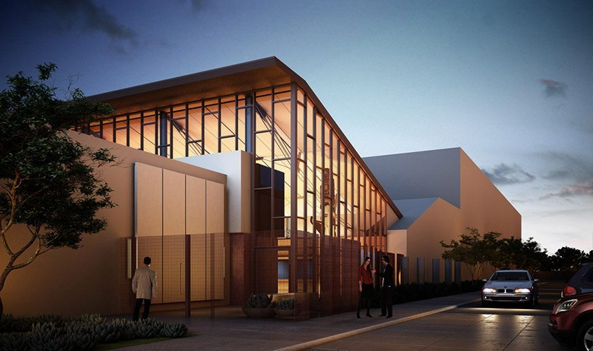 MATT construction Autry Resource Center Exterior Front Entrance Rendering