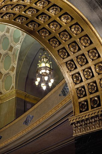 MATT construction Wilshire Boulevard Temple Interior Arch Ceiling Detail