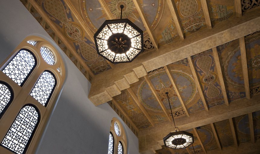 MATT construction Wilshire Boulevard Temple Interior Ceiling Detail