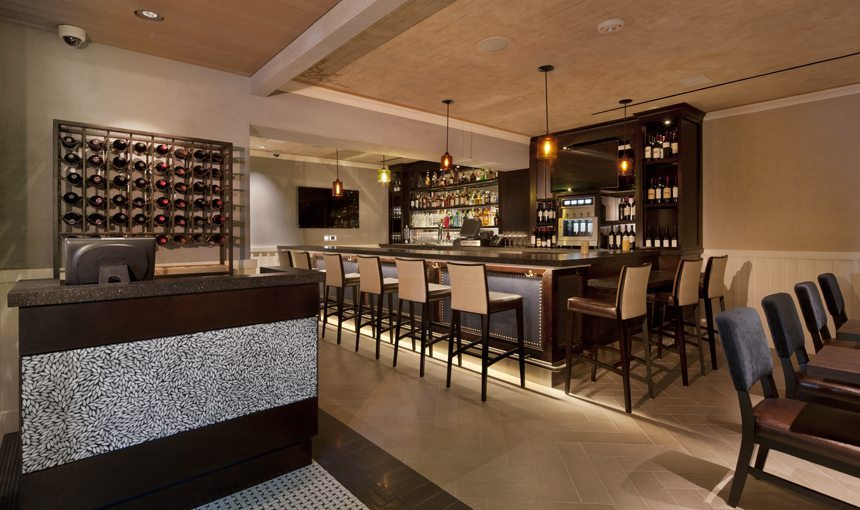 MATT construction Bel Air Bar & Grill Interior Bar Reception
