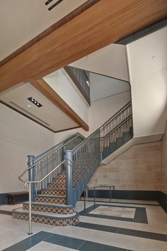 MATT construction USC School of Cinematic Arts Interior Stairs