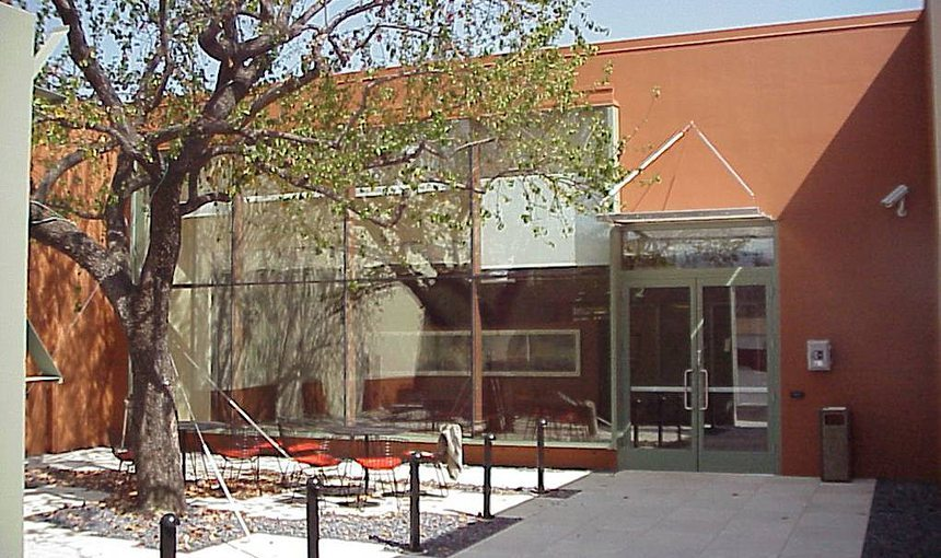Walt Disney Animation Research Library Exterior Courtyard Front Entrance MATT Construction