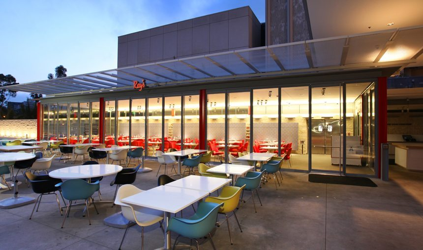 MATT Construction Ray's Restaurant LACMA Exterior Patio Seating