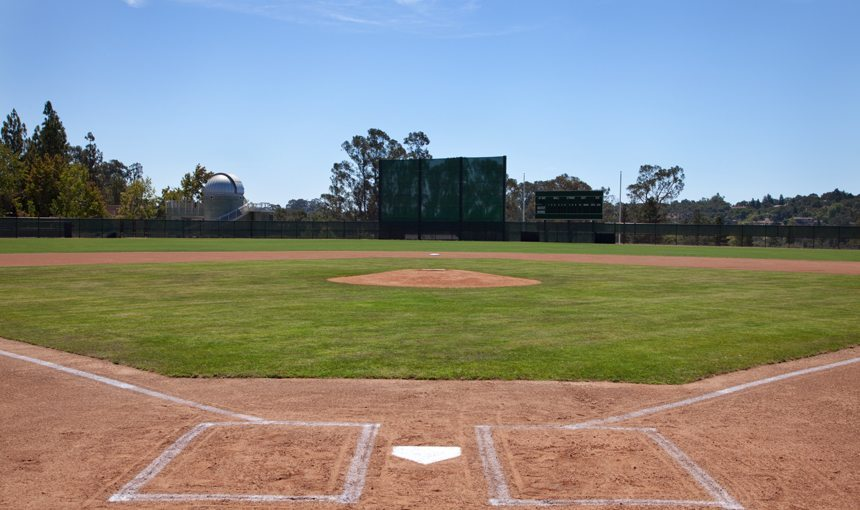 Westmont College Baseball Diamond matt construction