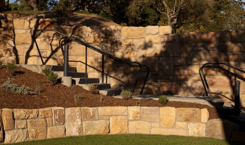 Westmont College Exterior Athletic field stairs matt construction