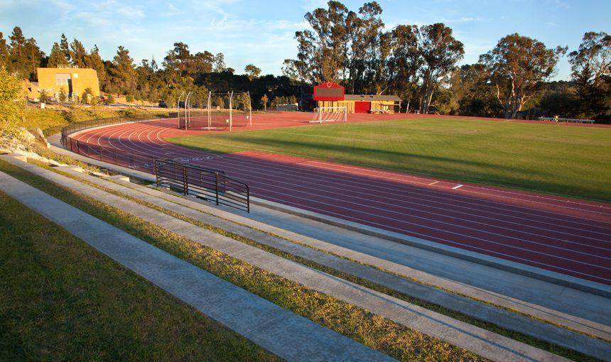 Westmont College Track and Field matt construction