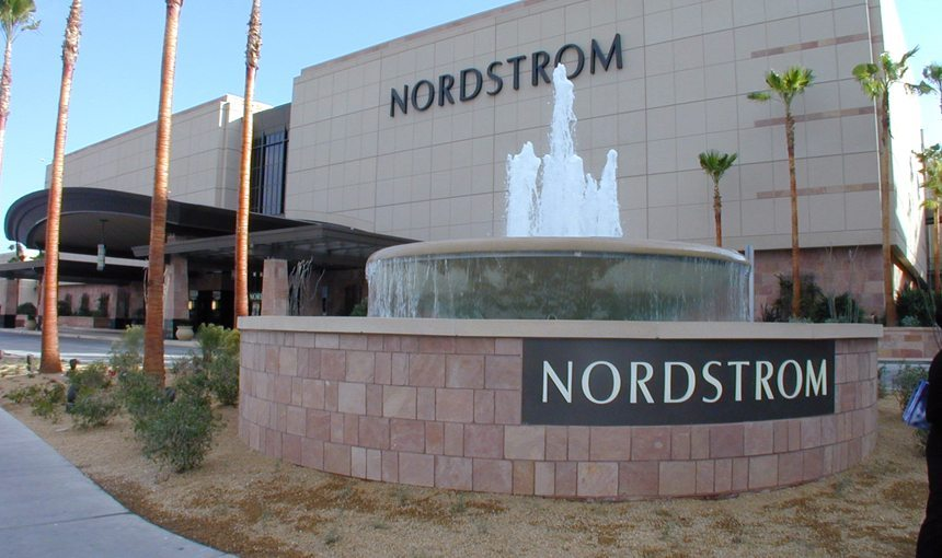 MATT construction Nordstrom Fashion Show Mall Las Vegas Exterior Corner Fountain