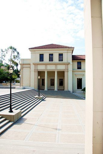 MATT construction Occidental College Fowler Hall Exterior Front Stairs