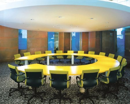 Omnicom Hodes Interior Conference Room MATT Construction