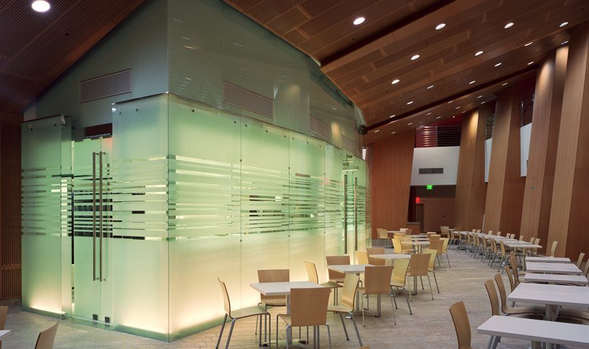 MATT construction Walt Disney Concert Hall Cafe Servery Exterior Glass