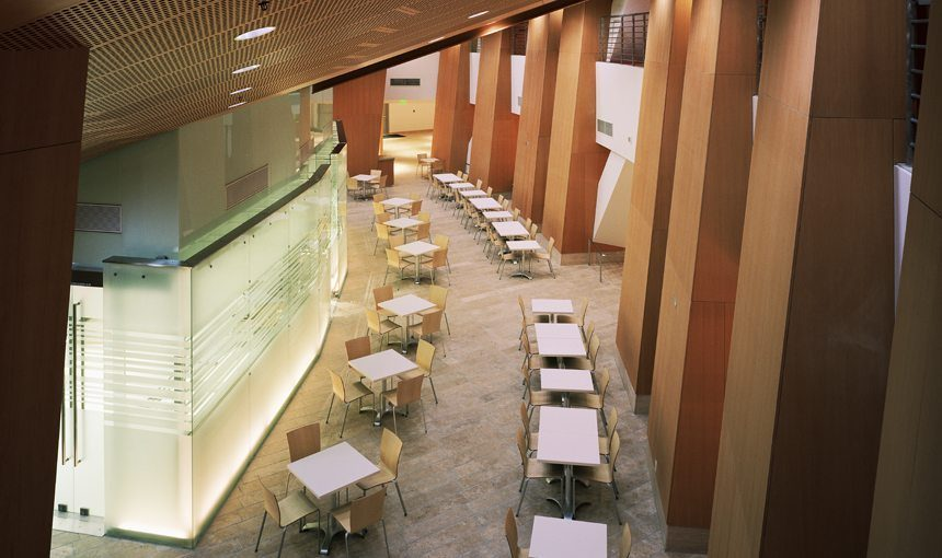 MATT construction Walt Disney Concert Hall Cafe Servery Exterior Dining Area Aerial