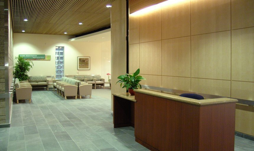 MATT construction Orthopaedic Hospital Outpatient Medical Center Interior Reception