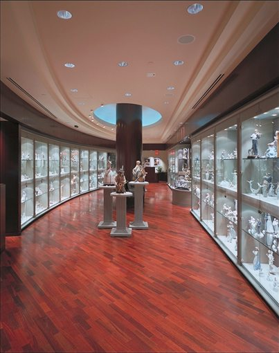 Lladro Galleries Interior Glass Display MATT Construction