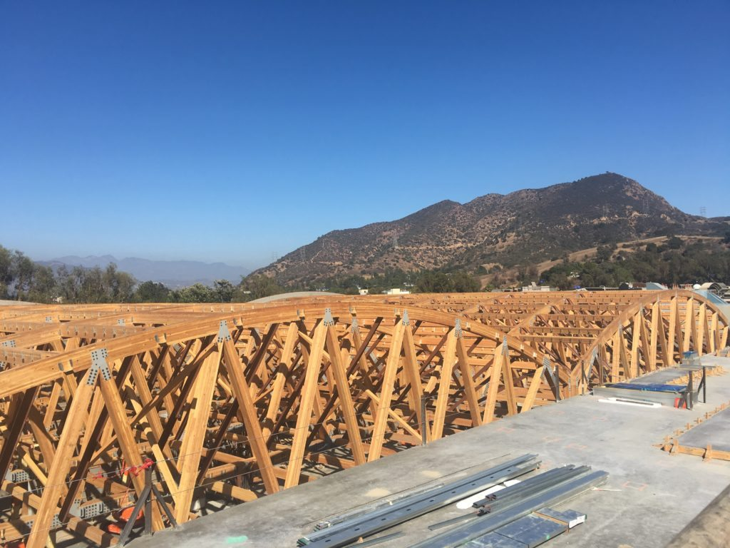 NBCU Area 51 Sound Stages Wooden Trusses