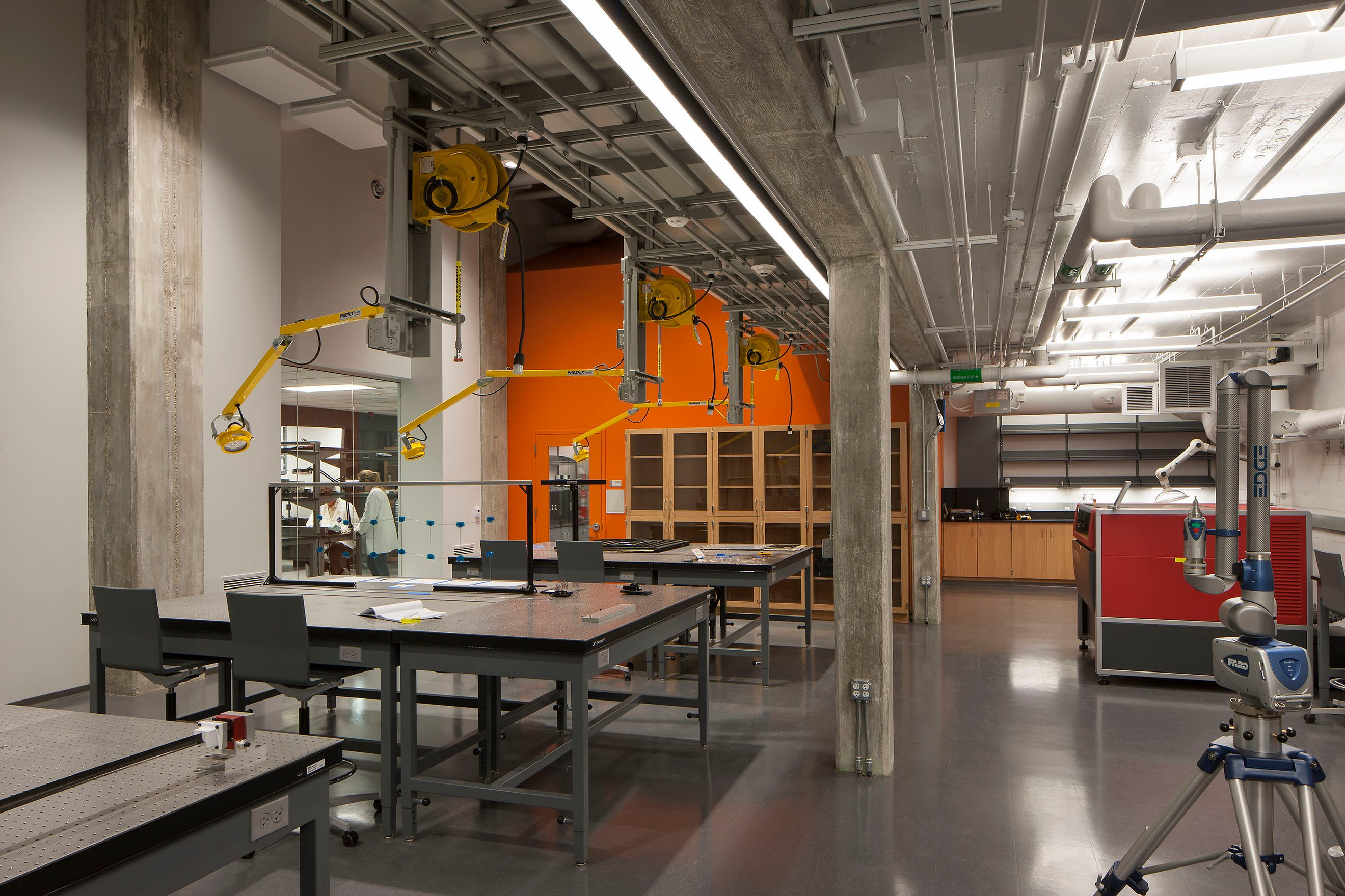 matt construction Caltech Karman Laboratory SSPI interior