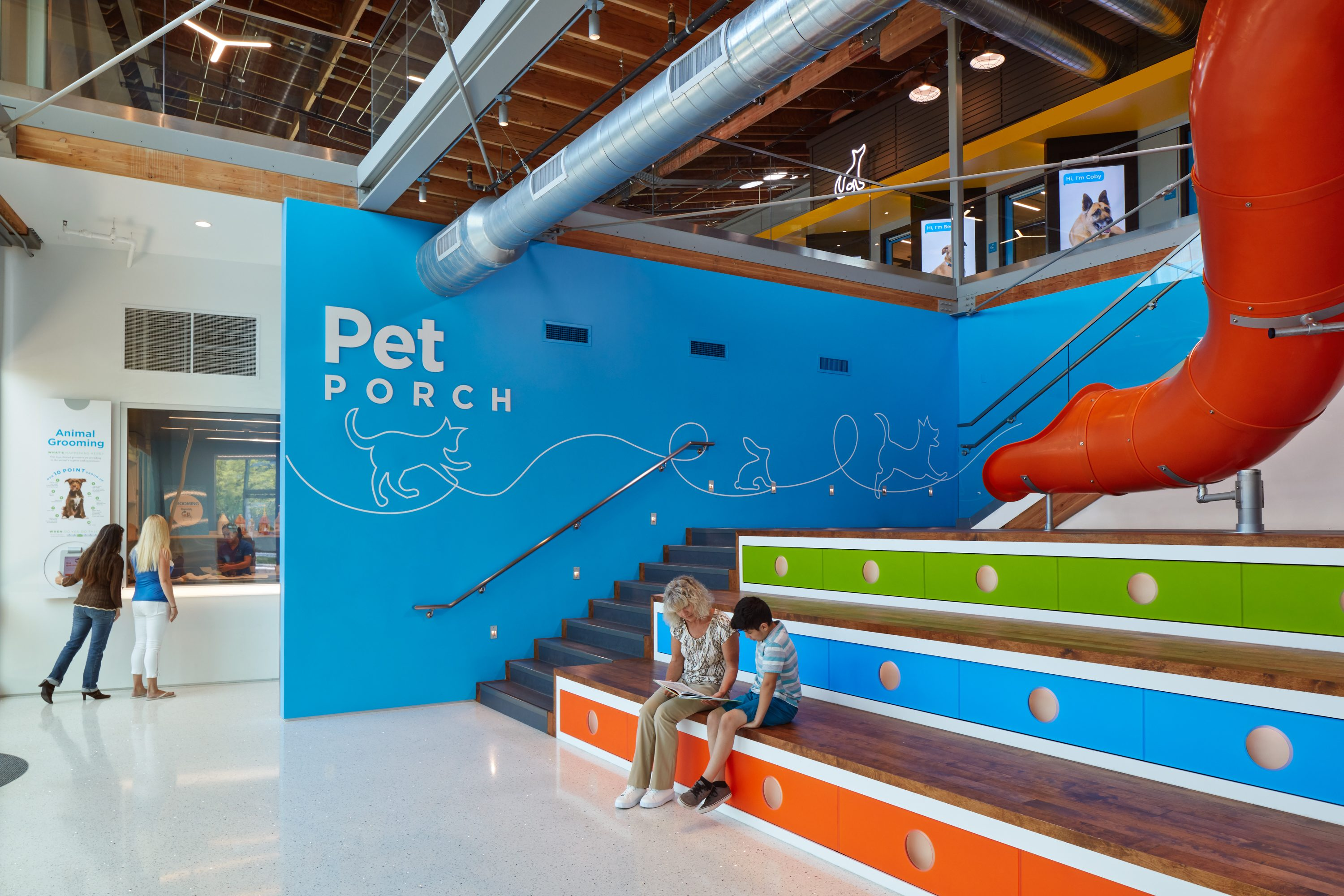 MATT construction Annenberg Playa Vista PetSpace Interior pet porch