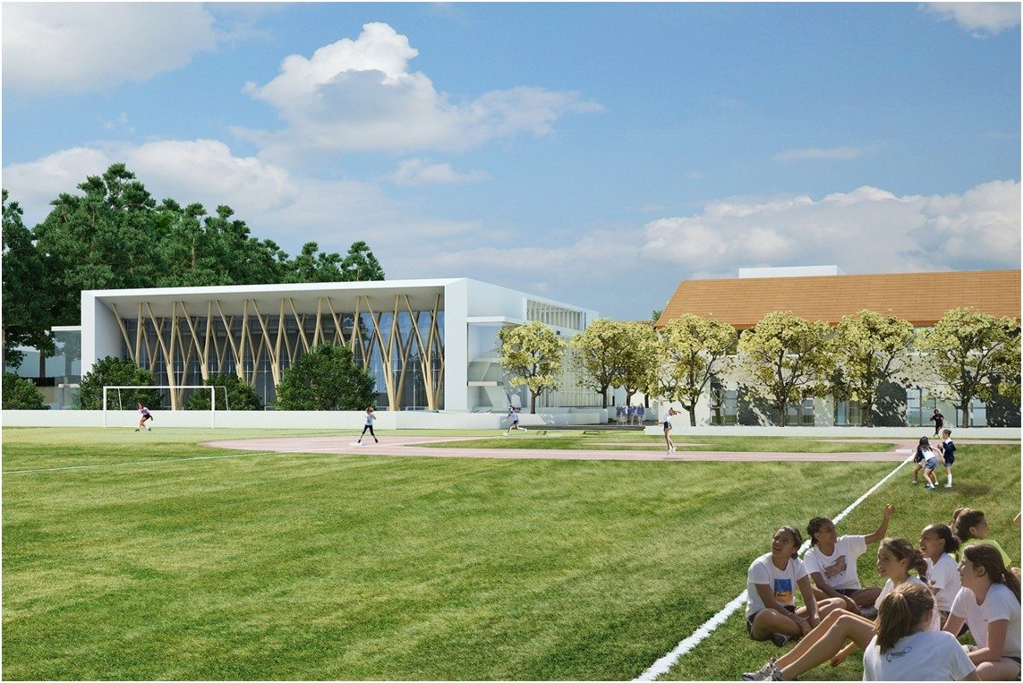 Archer School For Girls MATT Construction rendering field