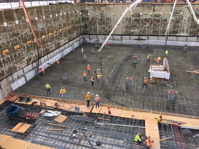 UDR Vision on Wilshire MATT Construction below grade pour