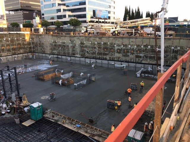 UDR Vision on Wilshire MATT Construction below grade excavation and pour