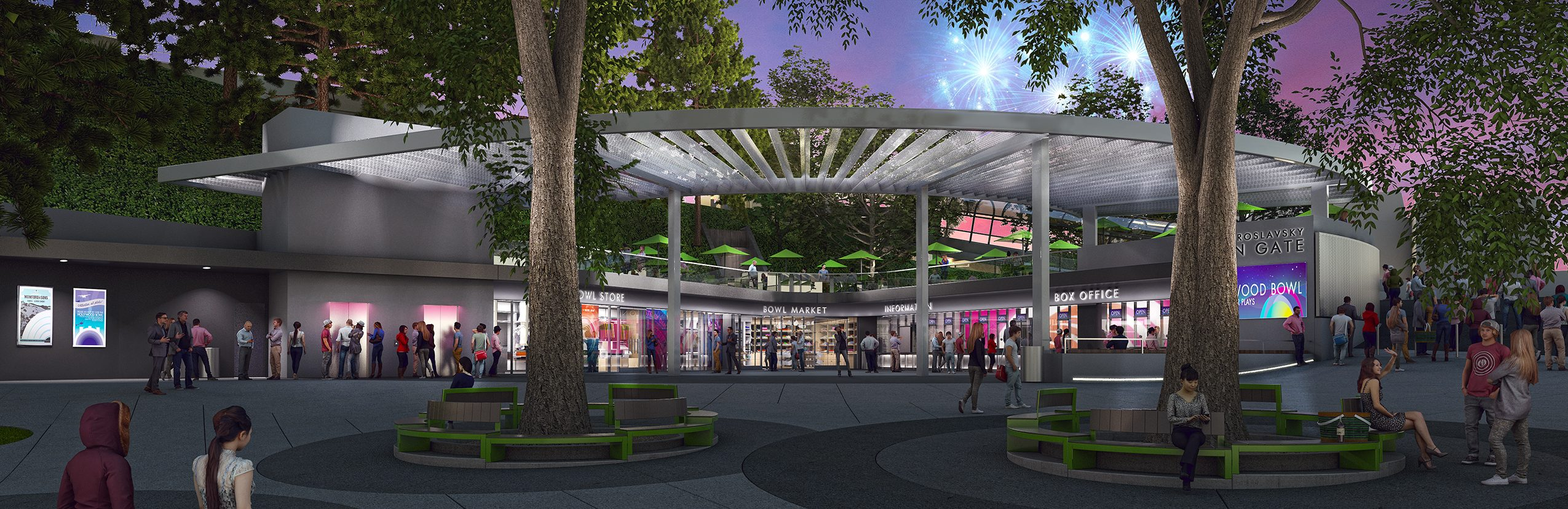 Hollywood bowl box office night matt construction rios clementi hale rendering