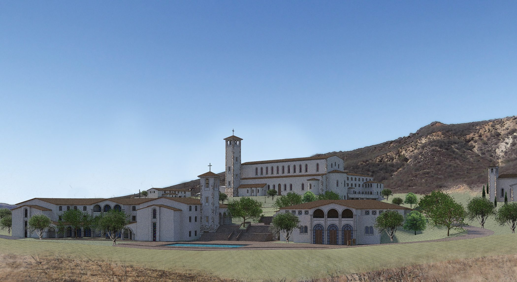 St Michael's Abbey rendering MATT Construction
