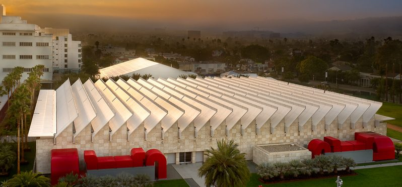 LACMA matt construction Lynda and Stewart Resnick Exhibition Pavilion at the Los Angeles County Museum of Art.