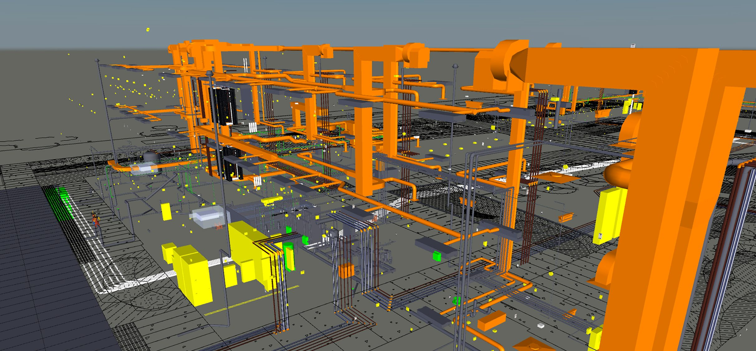 Clash Detection Caltech Bechtel bim rendering matt construction