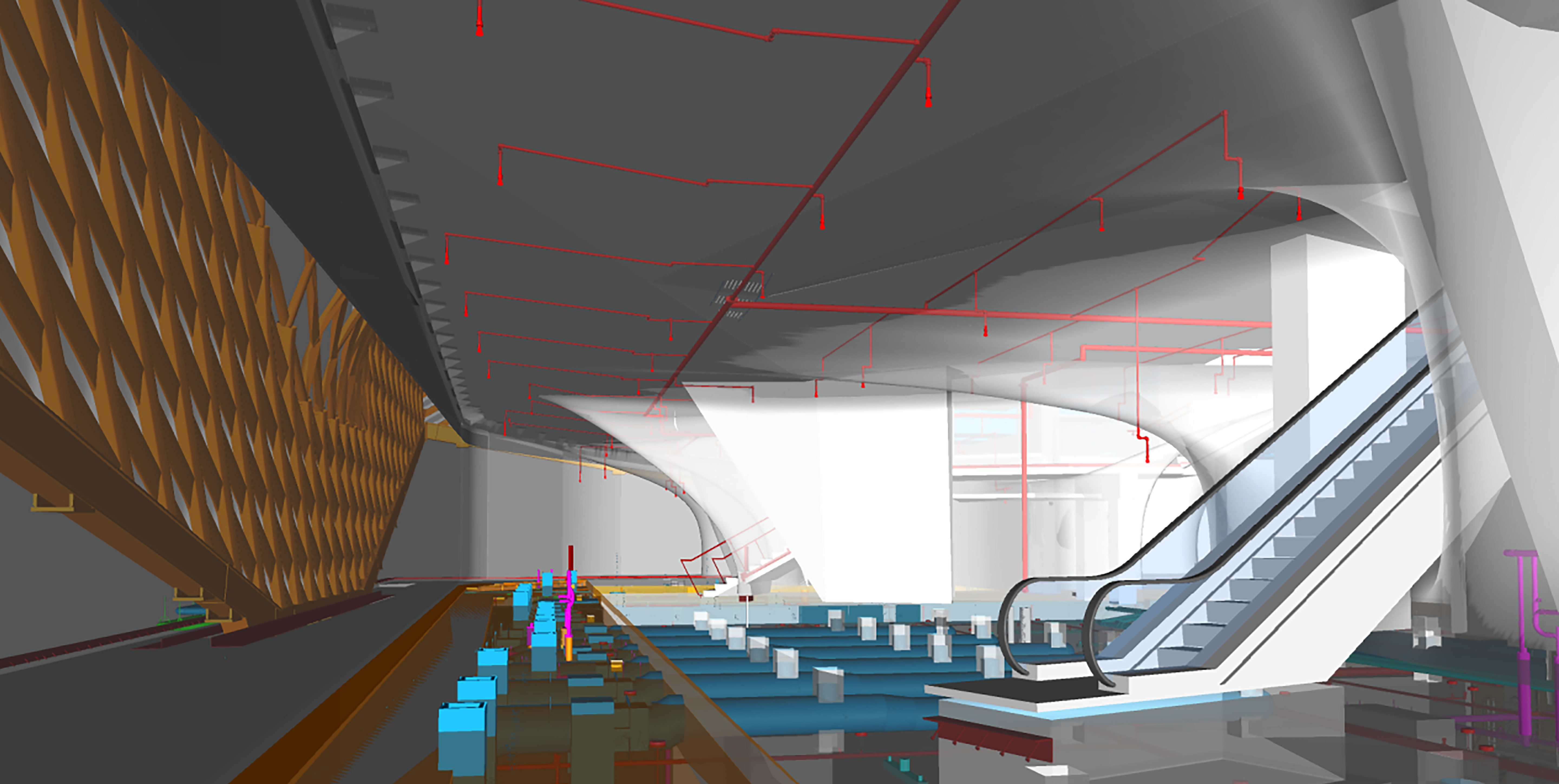 matt construction broad museum bim rendering interior los angeles
