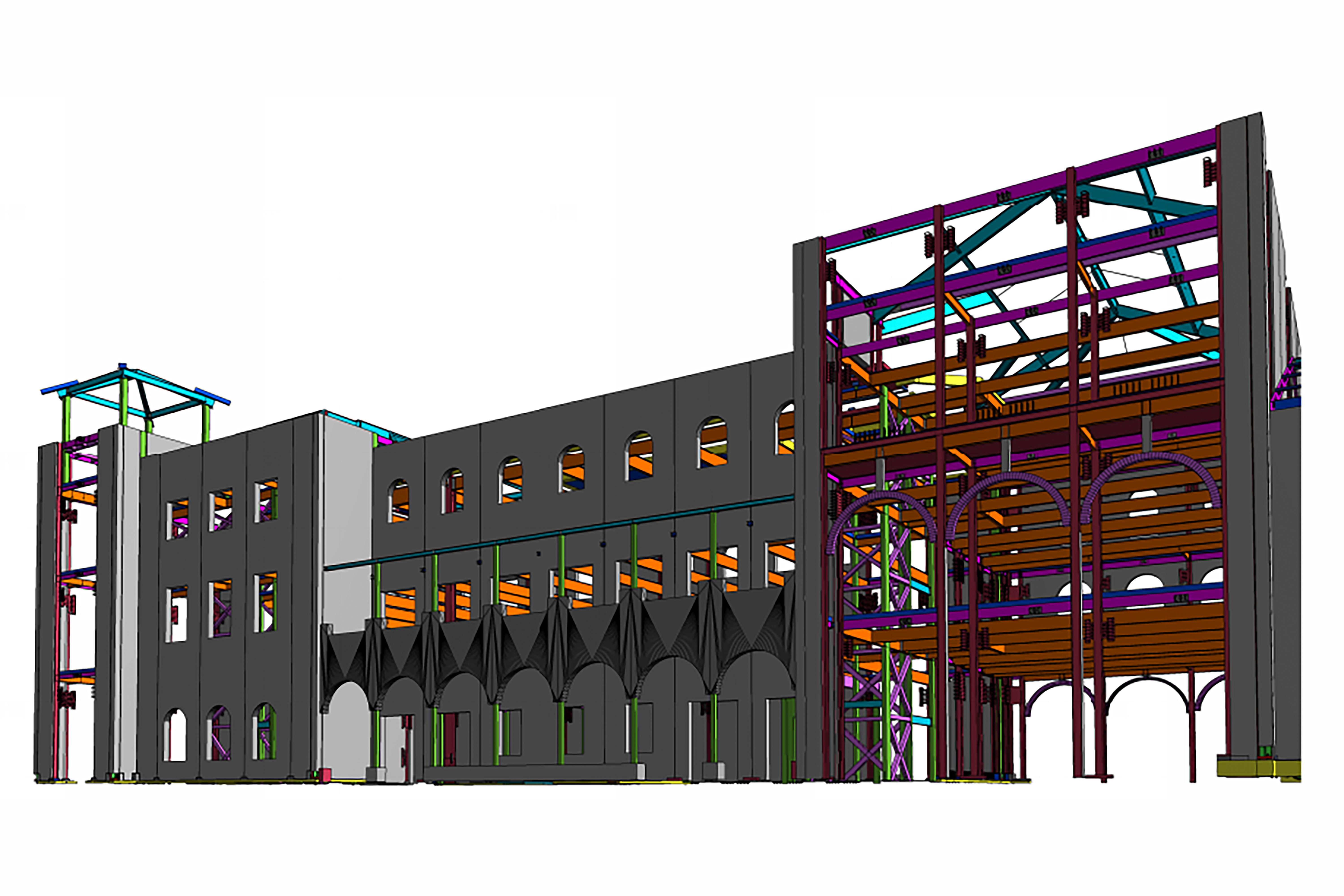 MATT Construction TEKLA USC Cinematic Arts model